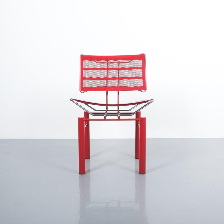 German Two Pairs of Red Hans Ullrich Bitsch Chairs Series 8600 For Sale