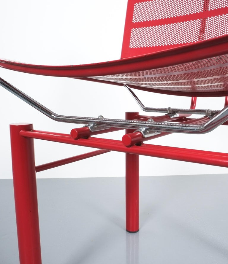 Two Pairs of Red Hans Ullrich Bitsch Chairs Series 8600 For Sale 1