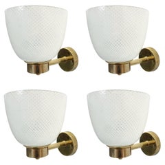 Two Pairs of Reticello Sconces