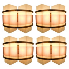 Two Pairs of Sconces by Oscar Torlasco