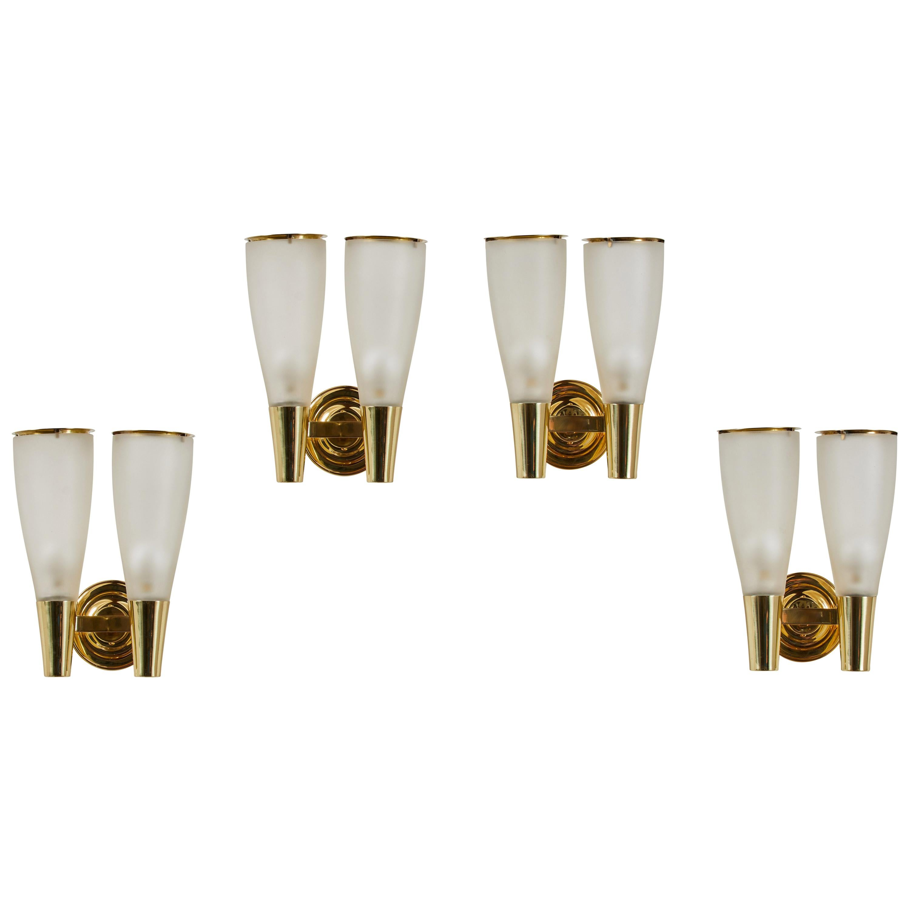 Two Pairs of Sconces by Pietro Chiesa for Fontana Arte