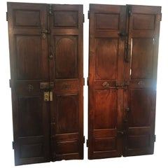Two Pairs of Very Large Architectural Palatial French Walnut Doors