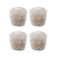 Two pairs vtg Italian Sconces w/Murano glass flowers attrib. to Barovier e Toso