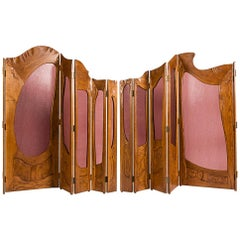 Two Part Folding Screen in the Manner of Antoni Gaudí, Early 20th Century