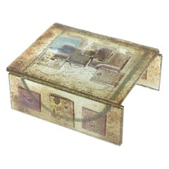 Two-Part Fused Higgins Style Glass Sculptural Box