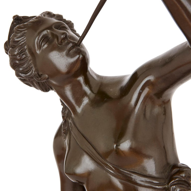 19th Century Two Patinated Bronze Sculptures of Mercury and Fortuna after Giambologna For Sale