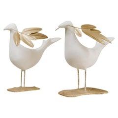 Two Peace Love Birds Poetic Artwork