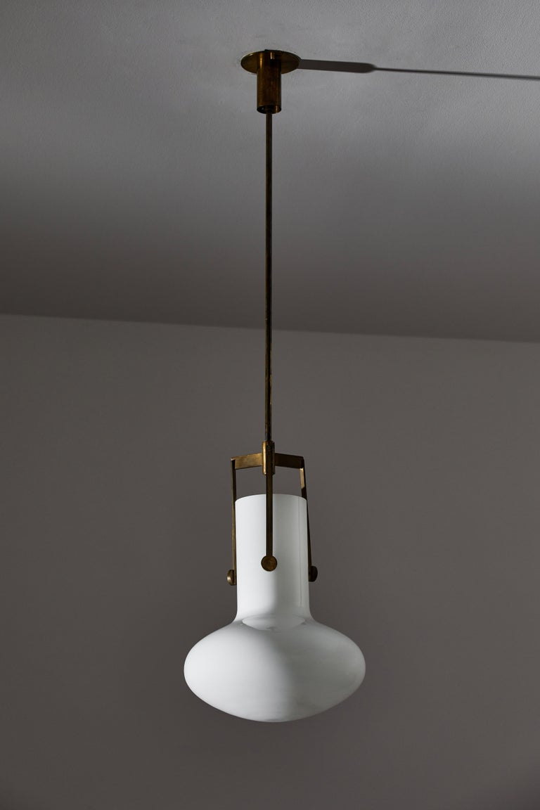 Brass Two Pendants by Venini For Sale