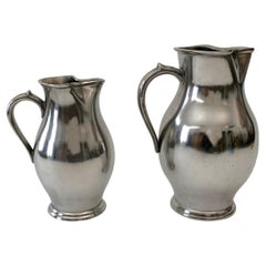 Two Pewter Wine Jugs from the Wiener Zin Manufacture Dated 1837