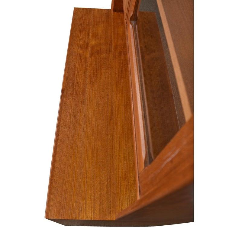 Mid-Century Modern Two-Piece Danish Modern Teak Display China Hutch Cabinet by Brouer Møbelfabrik For Sale