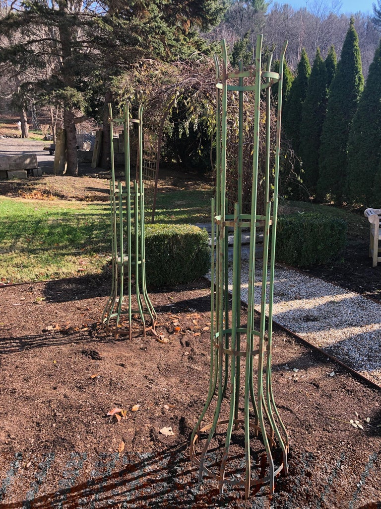 Two-Piece French Wrought Iron Tree Guards In Good Condition For Sale In Woodbury, CT