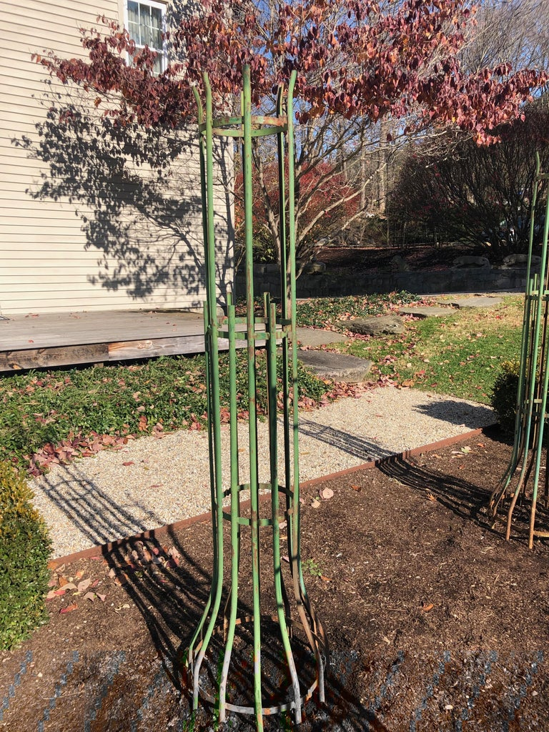 Two-Piece French Wrought Iron Tree Guards For Sale 3