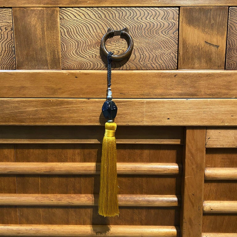 Hand-Crafted Two-Piece Kitchen 'Mizuya' Tansu, Japanese, Meiji Period For Sale