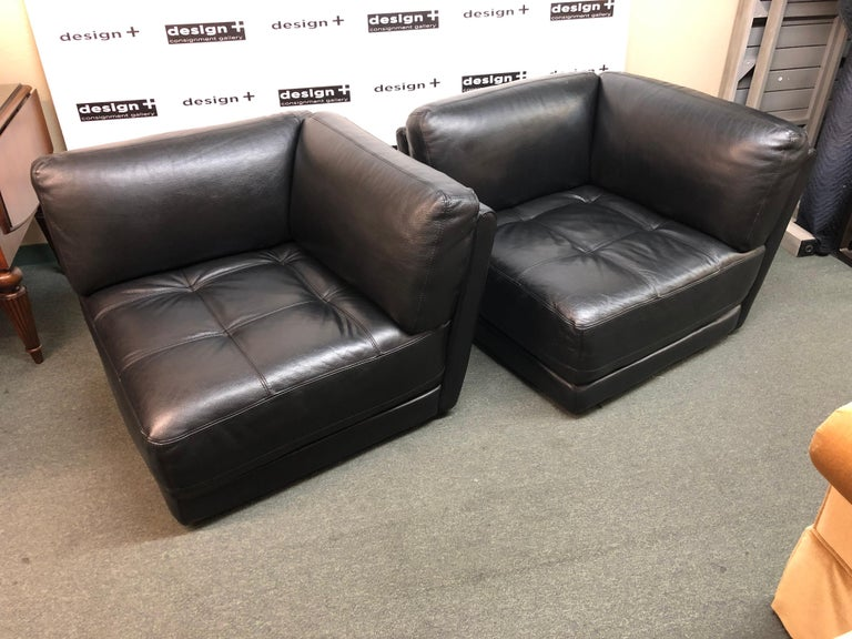 Stupendous Two Piece Leather Loveseat By Chateau D Ax For Sale At 1Stdibs Machost Co Dining Chair Design Ideas Machostcouk