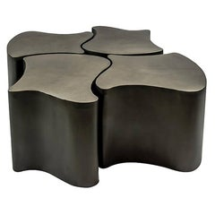 Two Piece Outdoor / Indoor Powder Coated Steel Coffee Table