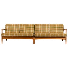 Two-Piece Sectional Sofa by Ib Kofod-Larsen for Selig, 1960s
