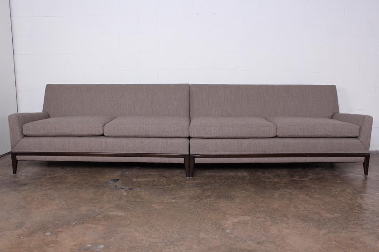 Two Piece Sofa by Tommi Parzinger For Sale 1
