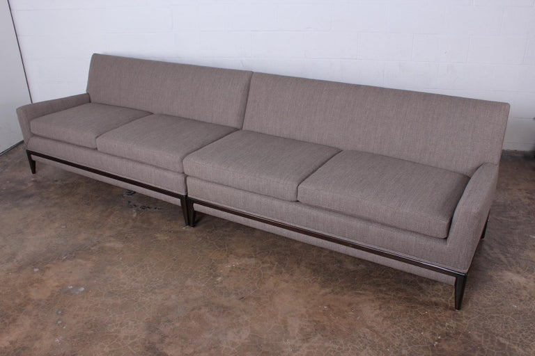 Two Piece Sofa by Tommi Parzinger For Sale 2