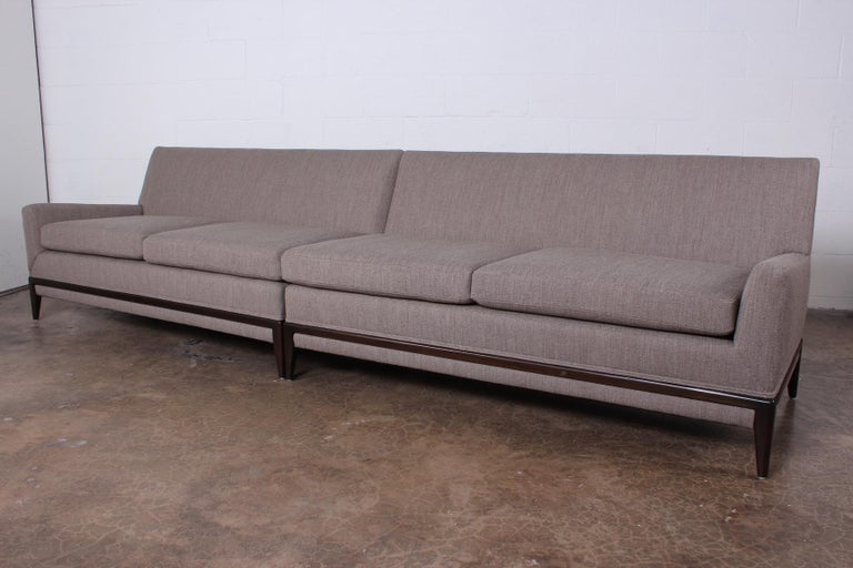 Two Piece Sofa by Tommi Parzinger For Sale 3