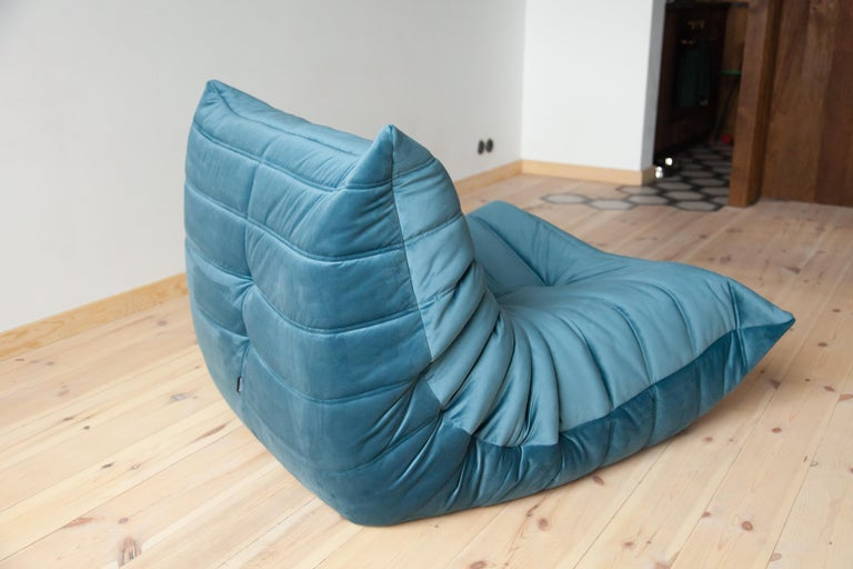Two-Piece Togo Set by Michel Ducaroy Manufactured by Ligne Roset in France For Sale 6
