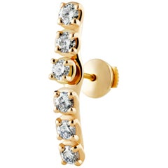 Two-Piece Traceable Diamond Earring In 18 Karat Yellow Gold By Rocks For Life