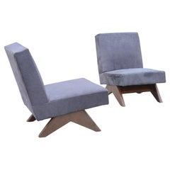 Two Pierre Jeanneret Sofa Chairs / Authentic Mid-Century Modern, Chandigarh