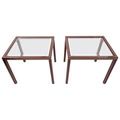 Two Pierre Vandel Side Tables, Paris, France, 1970s