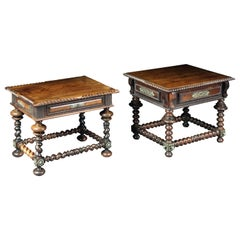 Two Portuguese Low Rosewood Tables