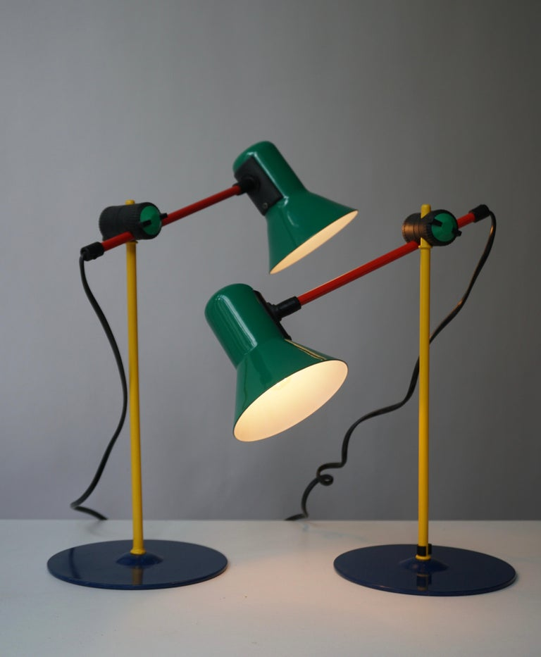 Two Postmodern Veneta Lumi Desk Task Table Lamp, Italy, 1994 In Good Condition For Sale In Antwerp, BE