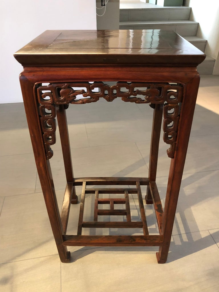 Authentic Qing dynasty two side tables in excellent cndition.