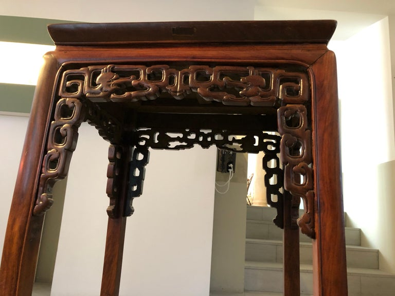Chinese Two Qing Dynasty Side Tables, Late 19th Century For Sale