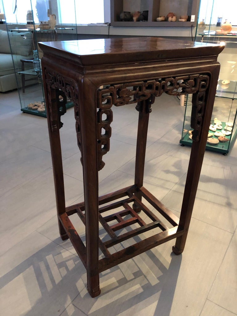 Hardwood Two Qing Dynasty Side Tables, Late 19th Century For Sale