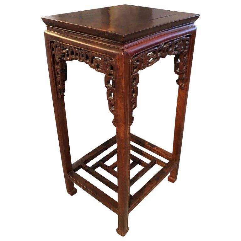 Two Qing Dynasty Side Tables, Late 19th Century For Sale