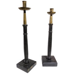 Two Rare Candlesticks Very Decorative, 18th-19th Century
