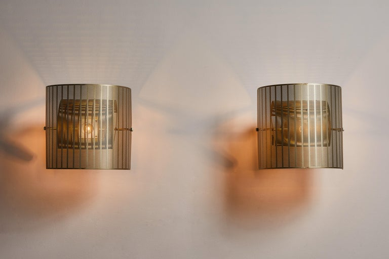 Italian Two Rare Shogun Sconces by Mario Botta For Sale