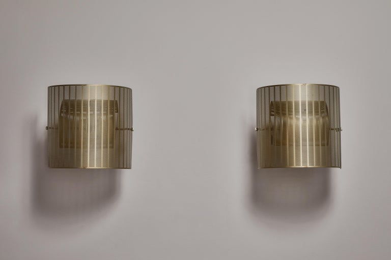 Two Rare Shogun Sconces by Mario Botta In Good Condition For Sale In Los Angeles, CA