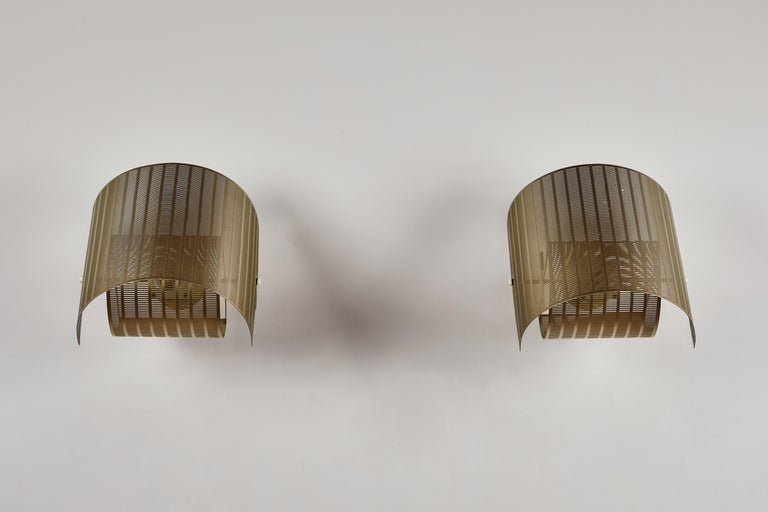 Metal Two Rare Shogun Sconces by Mario Botta For Sale