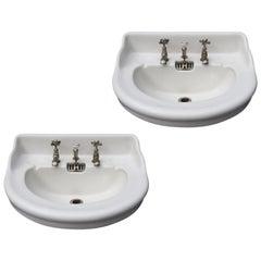 Two Reclaimed Jacob Delafon Sinks or Wash Basins