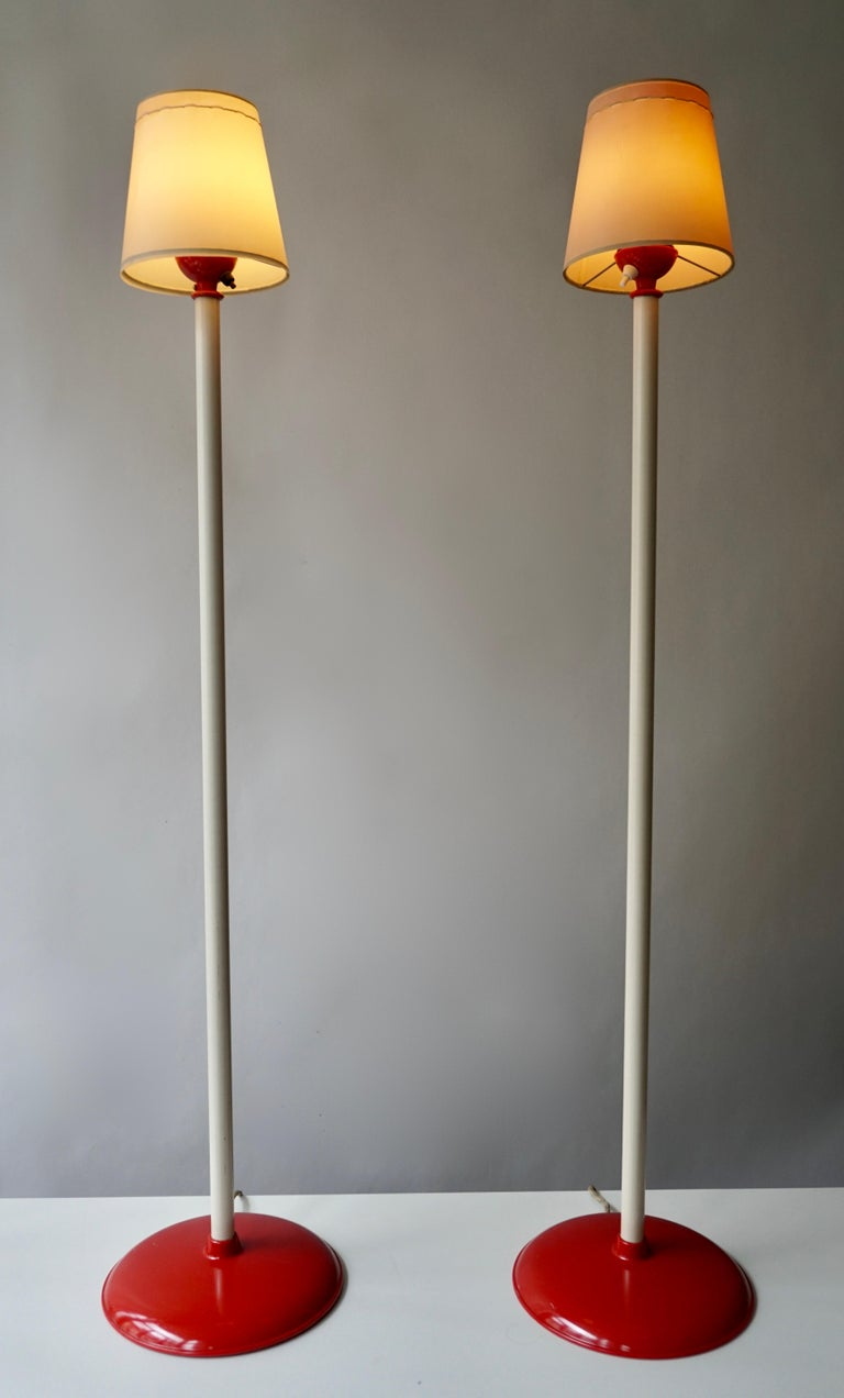 Two elegant Mid-Century Modern vintage floor lamps, which was designed in Germany.