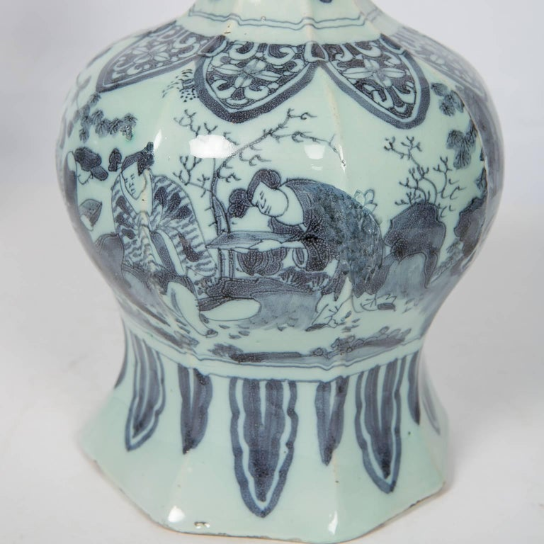 Two Related Blue and White Delft Vases 17th Century For Sale 1