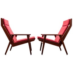 Two Rob Parry Lotus Lounge Chairs, 1950s