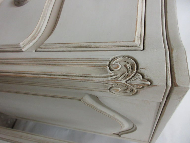 Wood Two Rococo Style Chest of Drawers For Sale
