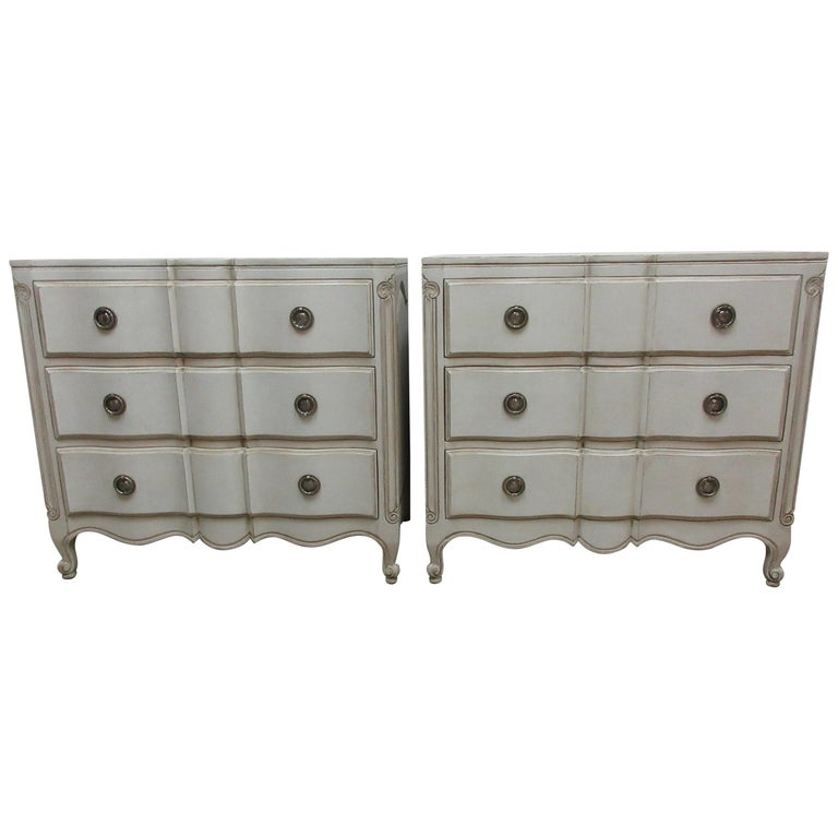 Two Rococo Style Chest of Drawers For Sale