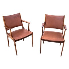 Two Rosewood Armchairs, Denmark, 1960s
