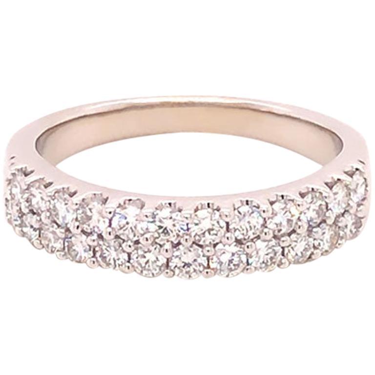 Two-Row 1.00 Carat Diamond Band Ring