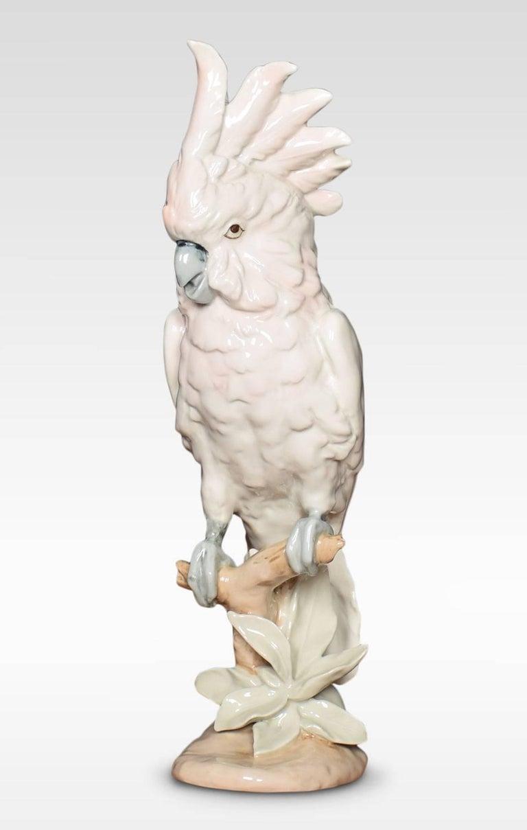 British Two Royal Dux Porcelain Models of Cockatoo's