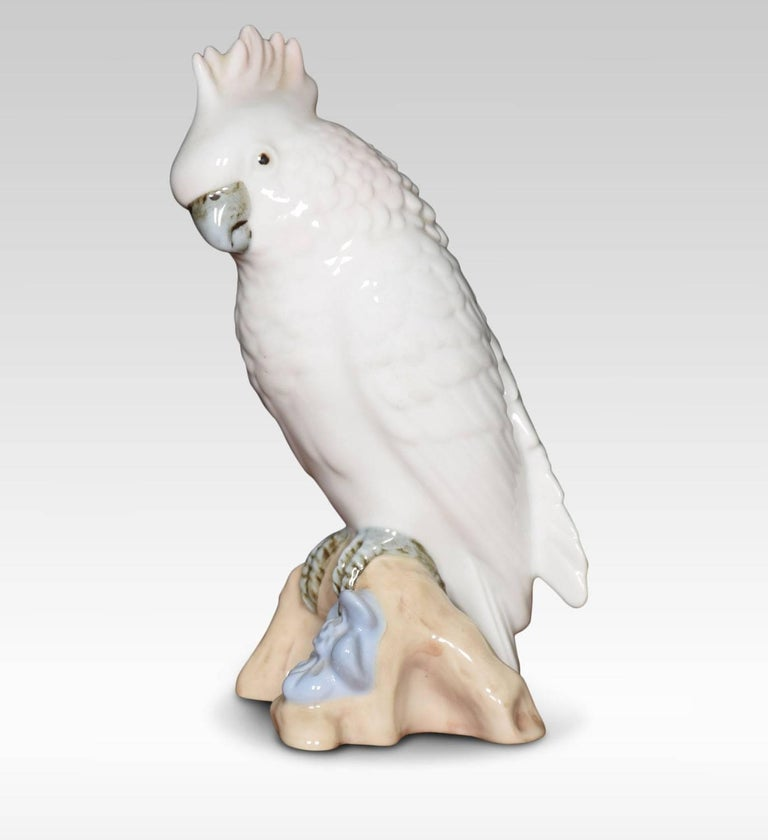 20th Century Two Royal Dux Porcelain Models of Cockatoo's