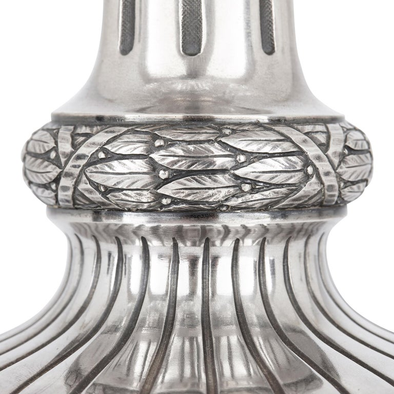 Two Russian Cut Glass and Silver Centrepiece Tazze In Good Condition For Sale In London, GB