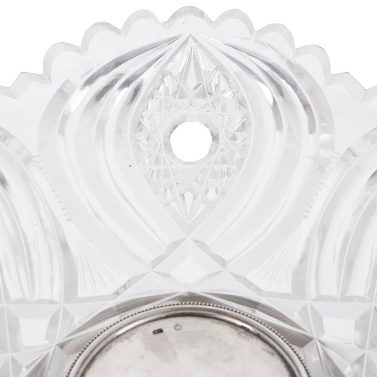 20th Century Two Russian Cut Glass and Silver Centrepiece Tazze For Sale