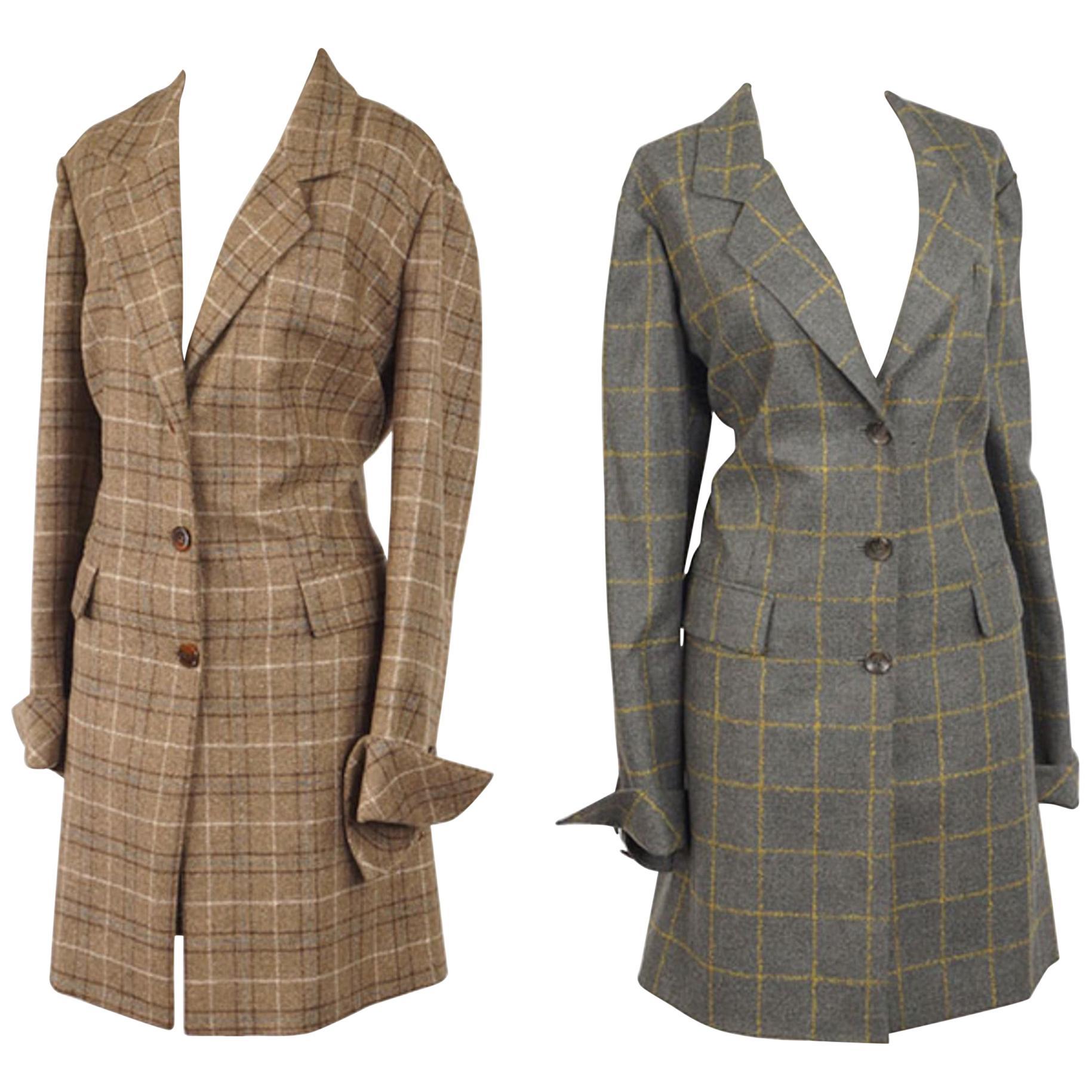 Two Sam Kori George Courture Atelier Cashmere Coats. Appox Size 12-14
